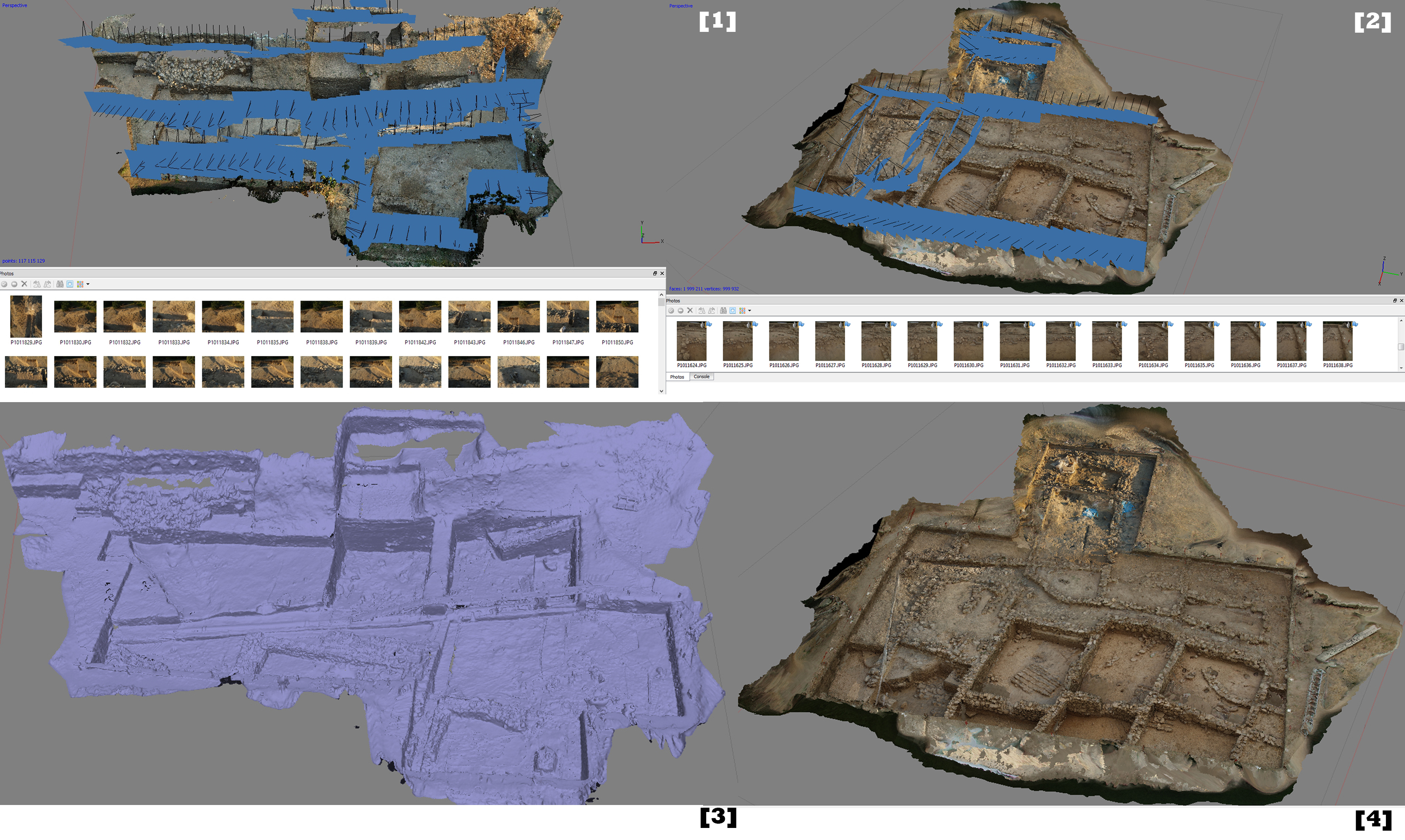 Processing of the Çukuriçi Höyük excavation area SfM model