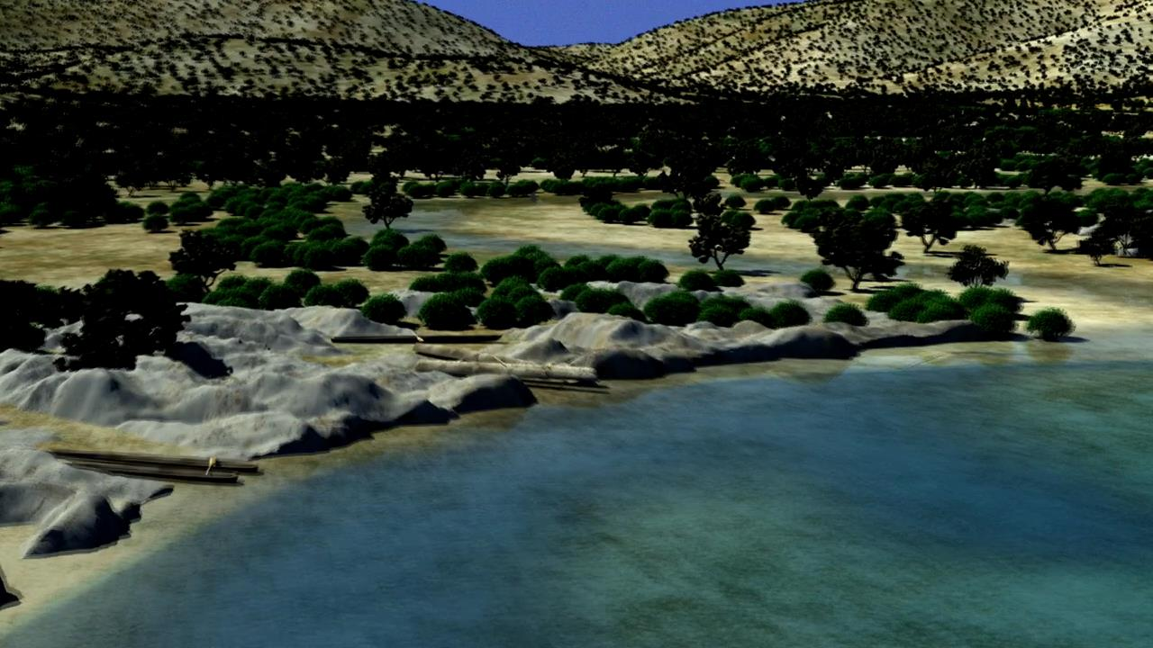Visualization of the coastline near Çukuriçi Höyük